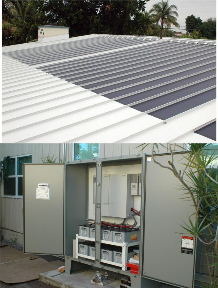 The First System we did in 2008. 5kW 'Thin Film'<br>with 10kW Battery Back-up - North Miami, FL