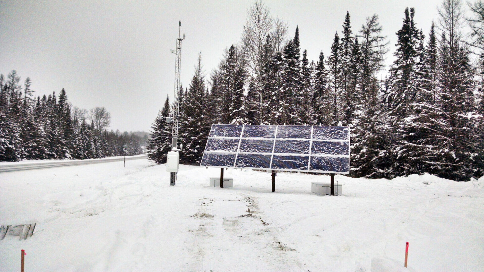3.66kW Weather Station in Remote Northern Michigan with 30kWh Battery Back-up (they wanted 7 days autonomy)