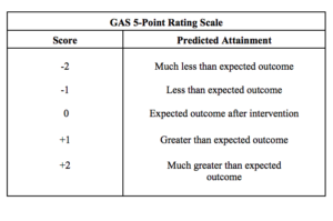 5 point rating scale (GAS)
