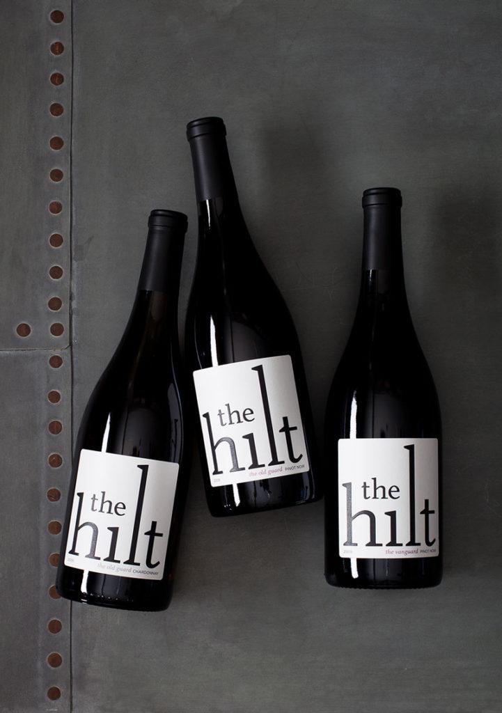 Bottles of The Hilt wine