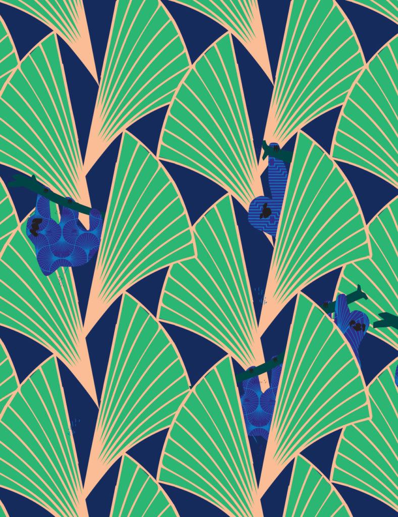 Custom sloth wallpaper for The Deco
