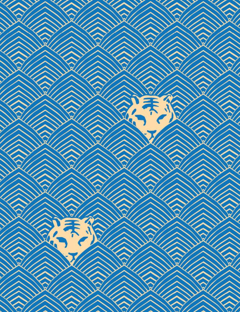Custom tiger wallpaper for The Deco