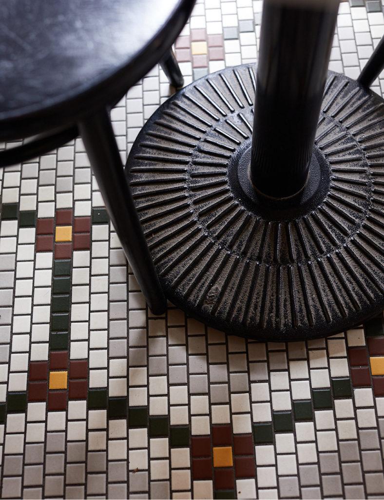 A tile floor