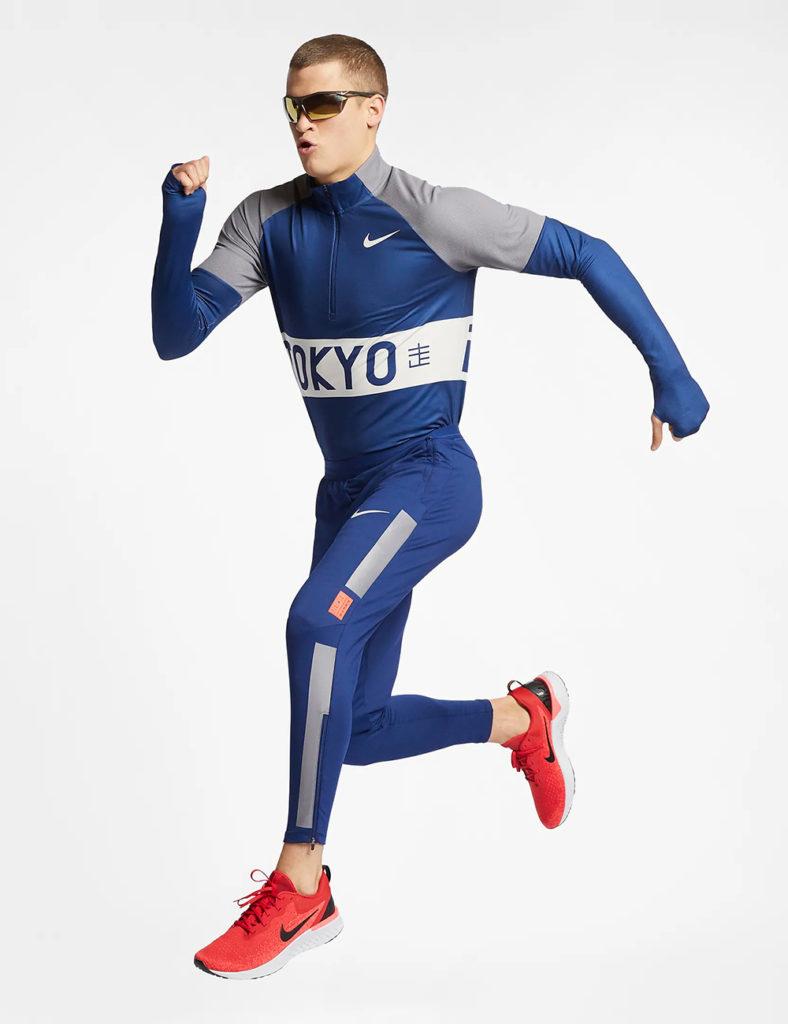 Man wearing 2019 Tokyo Marathon for Nike by LMNOP apparel