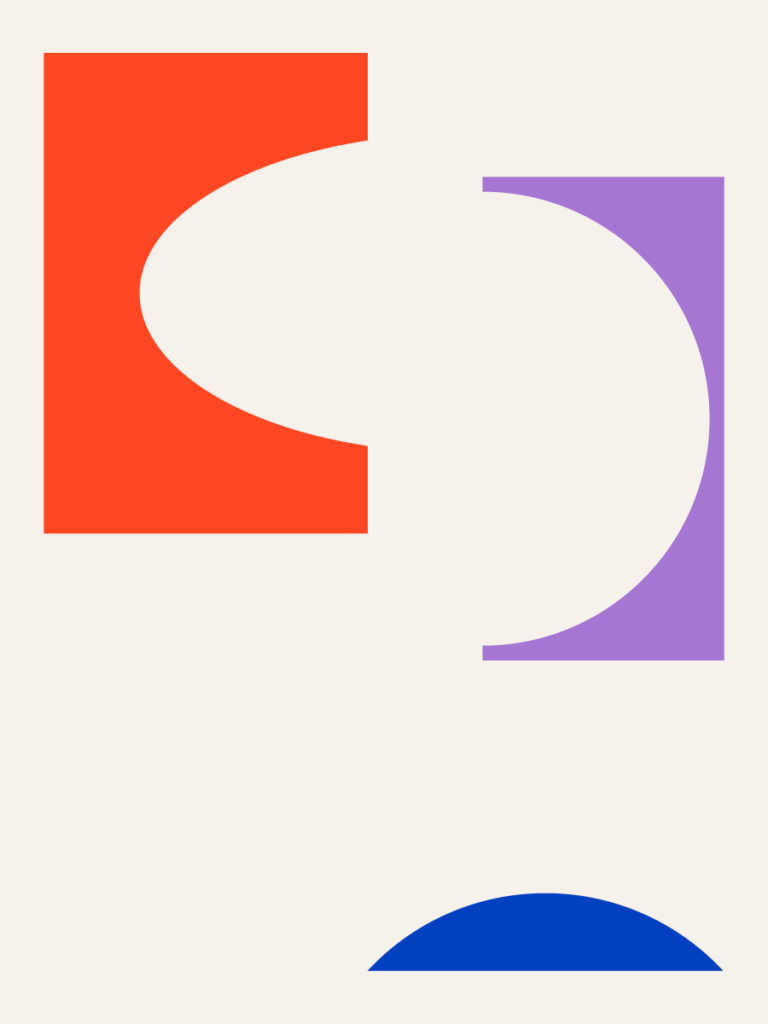 colorful cut-out shapes