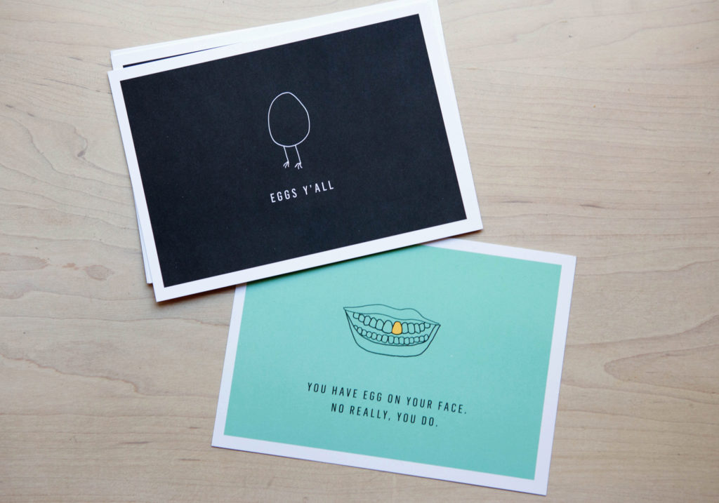 Egg Shop postcards