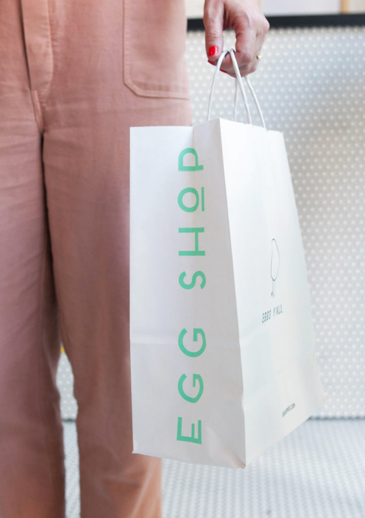 Egg Shop takeout bag