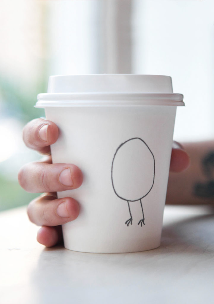 Egg Shop coffee cup