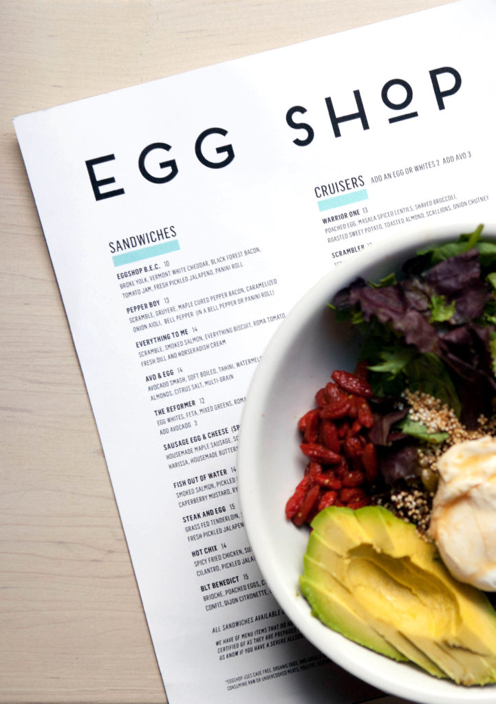 Egg Shop egg bowl and menu