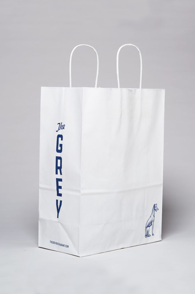 The Grey restaurant takeout bag