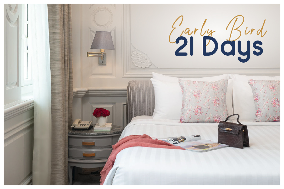 EARLY BIRD 21 DAYS SAVE 25% with breakfast