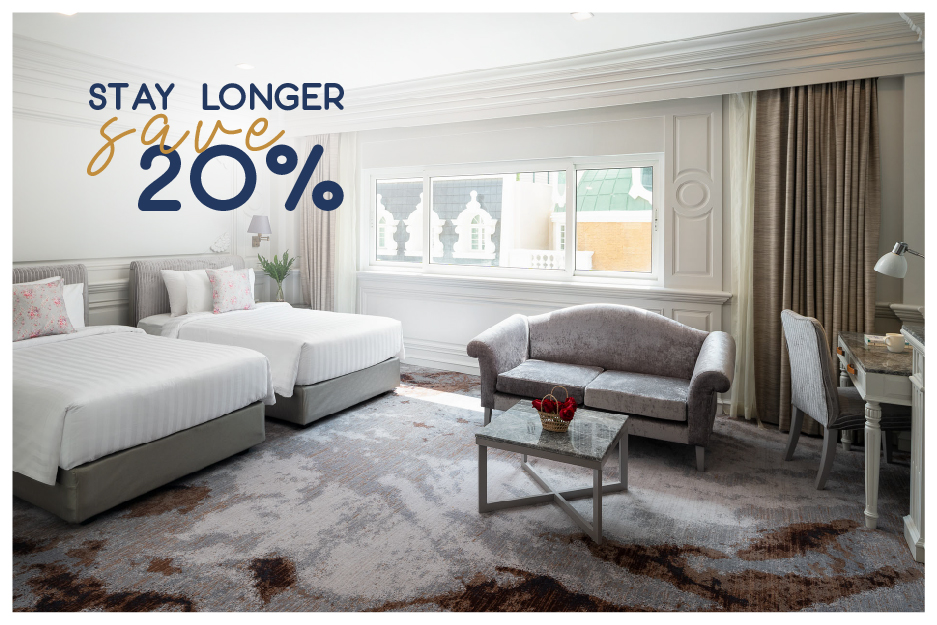 Stay longer save 20% room only