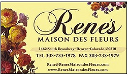 Rene's Maison des Fleurs offers a wide range of floral arrangements, Gourmet/Gift Baskets, and plants for home and office.