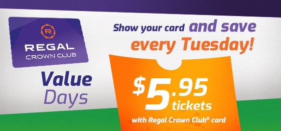 """Featured image for """"Regal Value Day at Regal Pinnacle"""""""