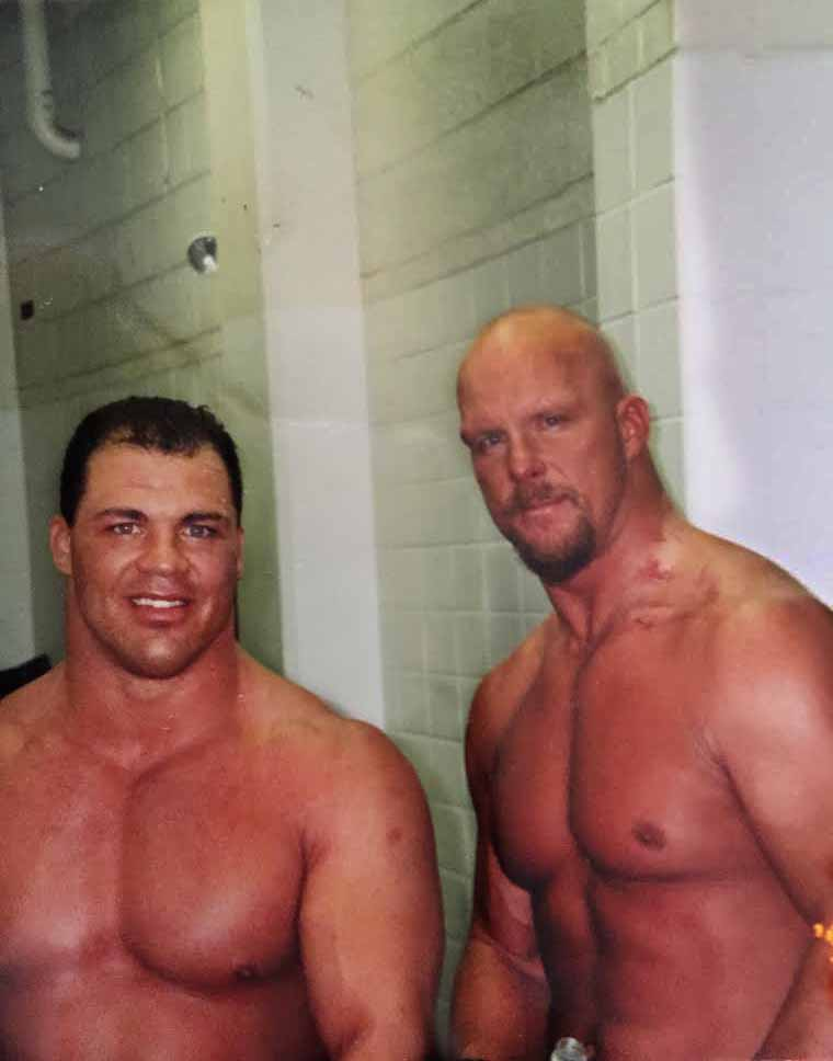 Main eventing with Stone Cold Steve Austin in 2001 on WWE