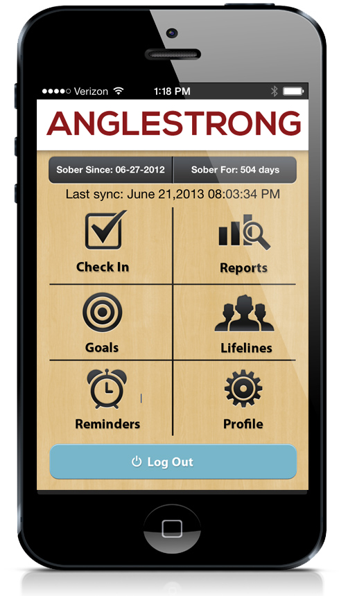 AngleStrong Recovery Management app