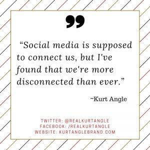 Social media- Kurt Angle Blog