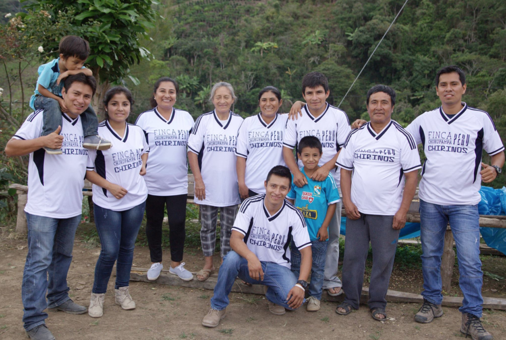 Some of the Peruvian coffee farmers
