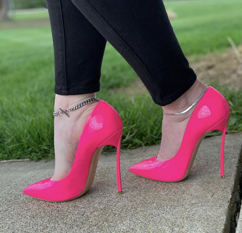 HOT PINK CASADEI PUMPS - Engineering in 130mm Christian Louboutins