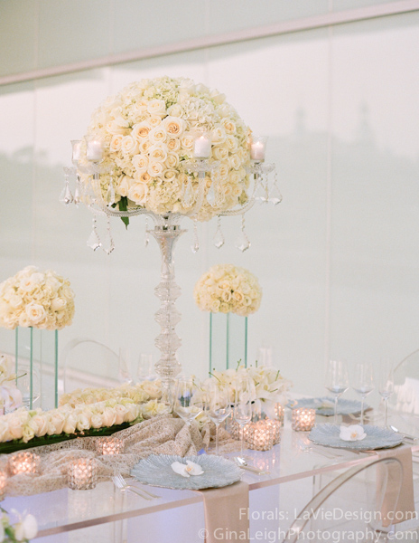 la-vie-en-rose-tampa-bay-wedding-magazine-summer-2011-white-orchid-ghost-chair-glass-table-crystal-candelabra-candle-votvies-cover-shoot-museum-of-art-florida