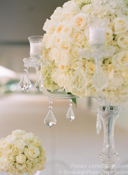 la-vie-en-rose-tampa-bay-wedding-magazine-summer-2011-white-crystal-candelabra-hydrangea-candle-votvies-cover-shoot-museum-of-art-florida