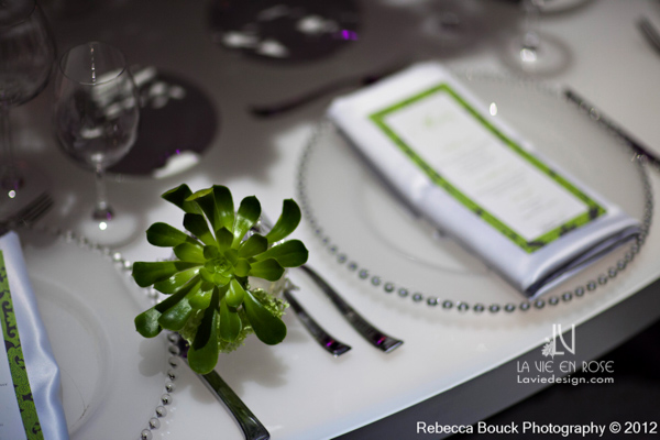 la-vie-en-rose-special-event-jouney-to-love-white-guest-table-modern-succulents-glass-chargers-reception-purple-up-light-tampa-florida
