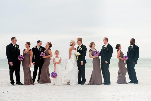 la-vie-en-rose-purple-lavender-bouquet-bride-maid-bridal-party-beach-blue-ceremony-hyatt-clearwater-beach-florida