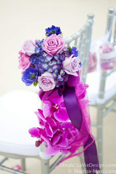 la-vie-en-rose-phalaenopsis-orchid-white-pew-decorations-silver-purple-ceremony-hyatt-clearwater-beach-florida