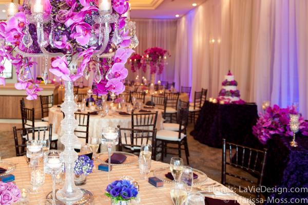 la-vie-en-rose-reception-centerpiece-phalaenopsis-orchid-hydrangea-crystal-candelabra-floating-votives-candle-hyatt-clearwater-beach-florida