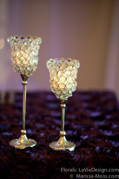 la-vie-en-rose-reception-rosette-linen-crystal-candle-puple-hyatt-clearwater-beach-florida