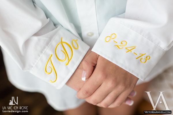 la-vie-en-rose-yellow-white-shirt-monogramed-florida-aquarium-tampa