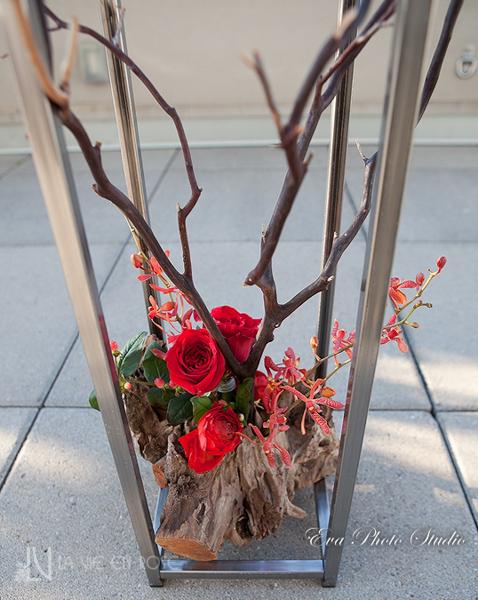 la-vie-en-rose-wedding-ceremony-orchid-driftwood-branches-westin-tampa-bay-florida