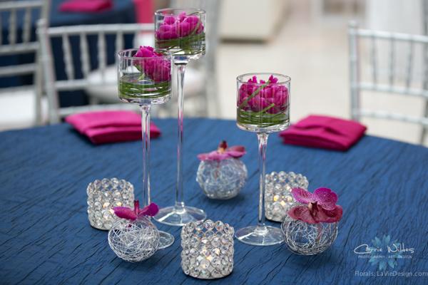 la-vie-en-rose-pink-fuschia-reception-navy-furniture-peonies-floating-candle-bear-grass-wedding-st.pete-florida-museum-of-fine-arts