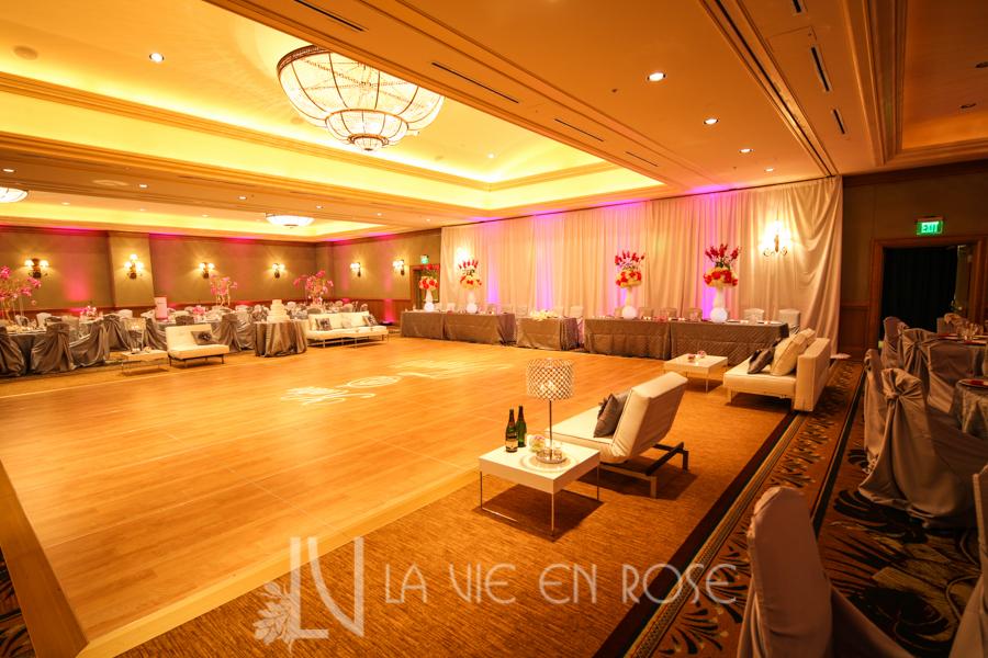 la-vie-en-rose-wedding-silver-chair-cover-linens-drape-LED-up-lighting-white-lounge-furniture-dance-floor-pin-light-monogram-hyatt-regency-clearwater-beach-florida
