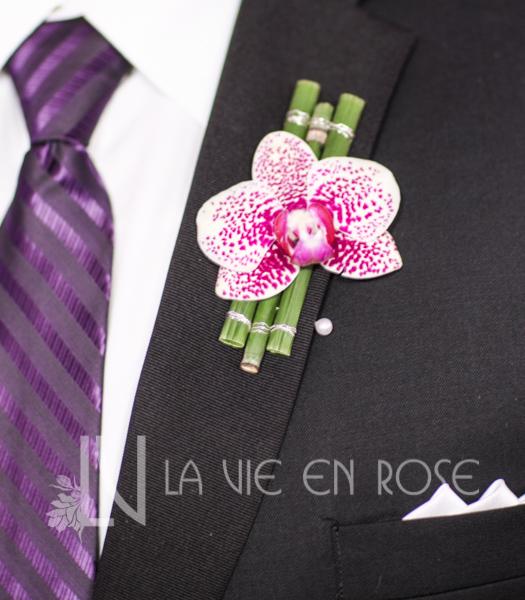 la-vie-en-rose-groom-boutineer-orchid-wedding-purple-venue-tampa-florida