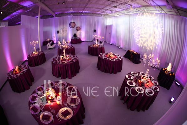 la-vie-en-rose-reception-guest-table-centerpiece-globe-crystal-candelabra-wedding-purple-venue-tampa-florida