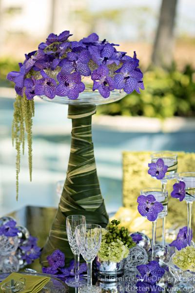 la-vie-en-rose-grace-ormonde-mirrored-table-top-blue-vanda-grass-orchid-shoot-green-purple-miami-four-seasons-florida