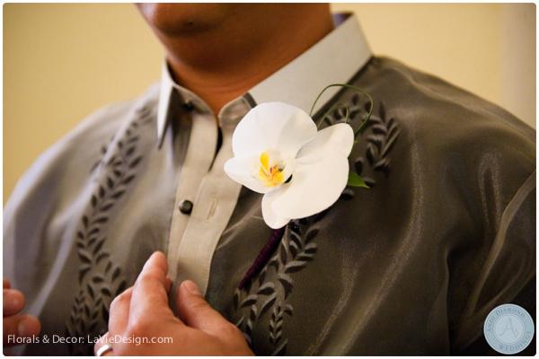 la-vie-en-rose-orchid-boutonnieres-groomsmen-phalaenopsis-sacred -heart-cuban-club-tampa-florida