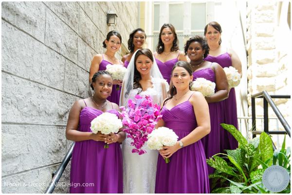 la-vie-en-rose-orchid-bridal-party-bride-phalaenopsis-vanda-purple-sacred -heart-cuban-club-tampa-florida