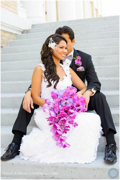 la-vie-en-rose-orchid-groom-bride-bouquet-phalaenopsis-vanda-purple-sacred -heart-cuban-club-tampa-florida