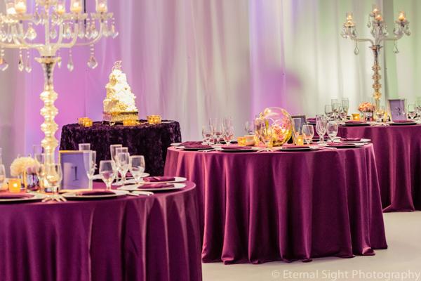 la-vie-en-rose-guest-cake-table-centerpiece-crystal-candelabra-wedding-purple-venue-tampa-florida