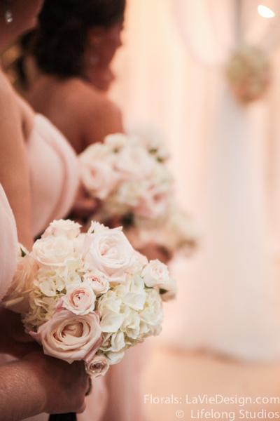 la-vie-en-rose-bride-maid-bouquet-hydrangea-pink-sprayrose-white-ivory-intercontinental -tampa-florida