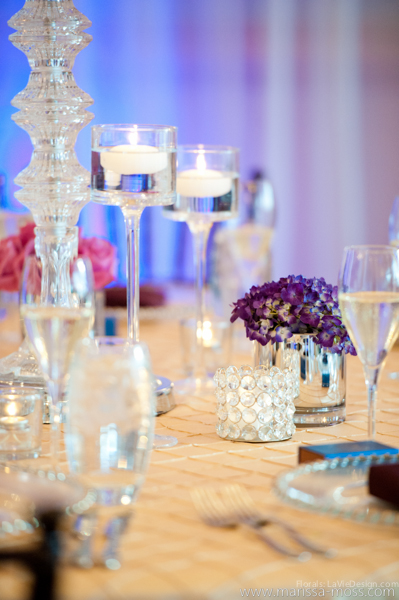 la-vie-en-rose-reception-floating-candle-hydrangea-puple-hyatt-clearwater-beach-florida