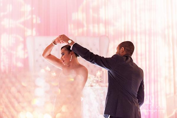 la-vie-en-rose-reception-bride-groom-pink-spotlight-hilton-downtown-tampa-florida