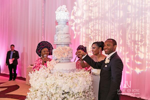 la-vie-en-rose-reception-cake-table-orchid-white-pink-bride-groom-hilton-downtown-tampa-florida