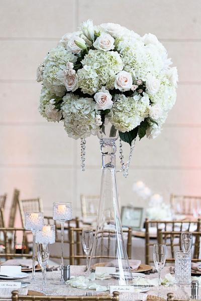 la-vie-en-rose-wedding-reception-ivory-hydrangea-crystal-centerpiece-meuseum-of-art-tampa-florida
