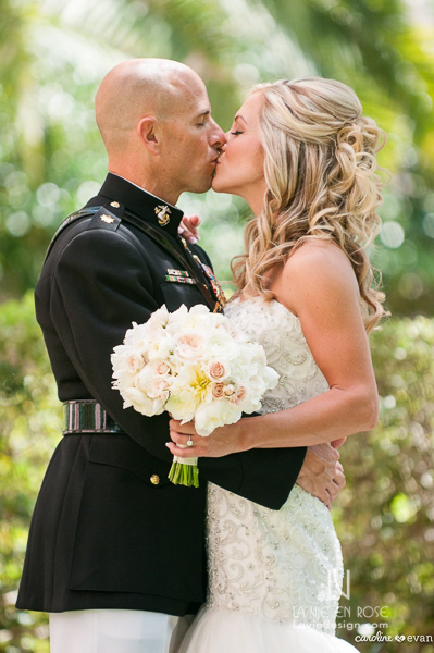 la-vie-en-rose-wedding-st-pete-ivory-flowers-bride-and-groom-vinoy-renaissance-florida