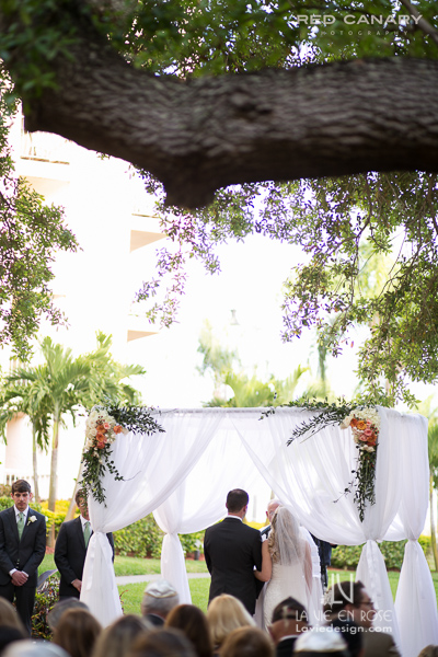 la-vie-en-rose-wedding-chuppah-draping-coral-peach-ceremony-safety-harbor-clearwater-florida