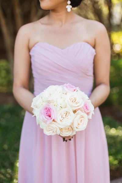 la-vie-en-rose-wedding-bridesmaid-pink-bouquet-ceremony-party-carillon-hilton-hotel-st-petersburg-florida