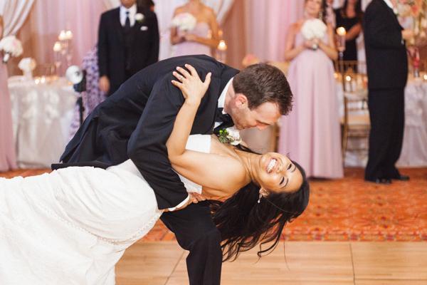 la-vie-en-rose-wedding-reception-bride-groom-dance-tango-dip-smile-happy-love-marriage-carillon-hilton-hotel-st-petersburg-florida